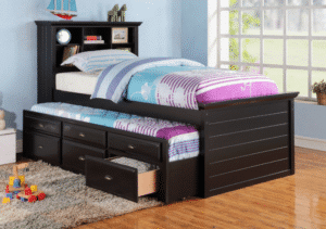 Black Captain Twin Bed