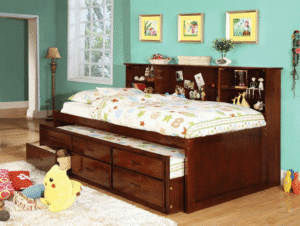 Furniture Of America Lemoine Captain Twin Bed, With Twin Trundle
