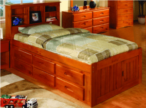 Honey finish captains bed